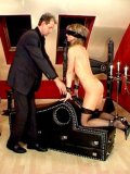 Blindfolded sub girl Dea with tight ass and pussy bends over for master