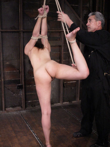 Penney Play tied with her legs up and stimulated with bondage before experiencing humiliation.