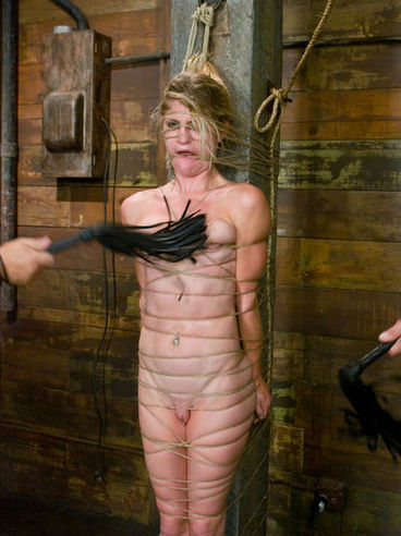Skinny flexible Tawni Ryden with smooth snatch gets tied up and punished by experienced master