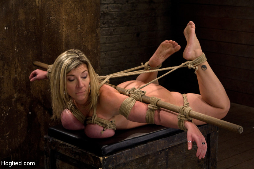 Mature jays busty bdsm and hogtie