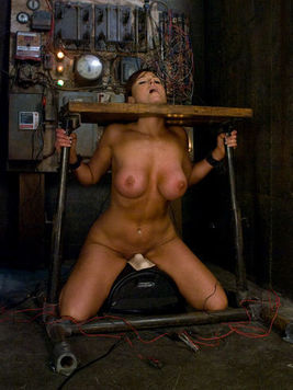 Penny Flame and Christina Carter together in kinky bondage licking, drilling and tazing slits.