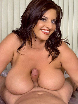 Plump big titted brunette Maria Moore takes man meat in her mouth then gets shagged