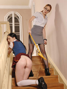 Amarna Miller has a new slave and her name is Amber Nevada. She is into spanking.