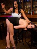 Chanel Preston makes Isis Love feel like woman during a nasty session of lesbo fetish.
