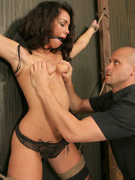The brunette Paulina James made her master really furious and he cruelly punished her for that.