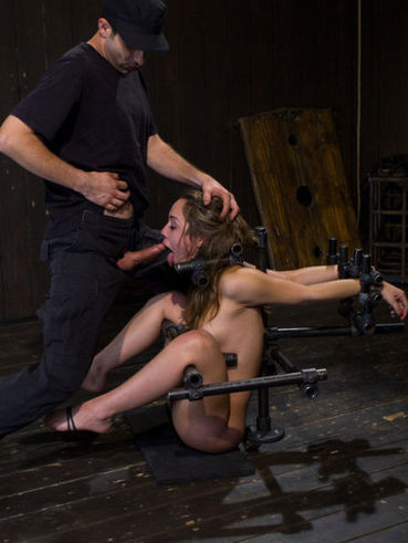 Kristina Rose is a sweet brunette who gets hogtied and her silken pussy stimulated by sex devices.