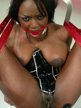 Black woman Jada Fire with huge boobs gets punished by white domina Princess Donna
