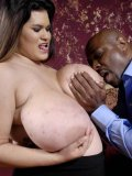 Black dude plays with gigantic tits of stout latina Haydee Rodriguez then fucks her fat pussy