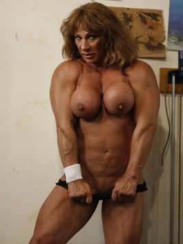 Muscular and busty Danielle Rouleau is a part of Female Bodybuilders who love posing and teasing.
