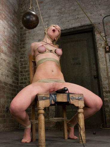 Slave Annette Schwarz with big tits and pink snatch gets hogtied and tortured