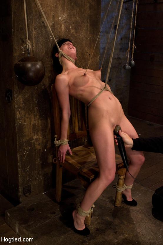 image Suspended bondage slave elise graves tortured to tears