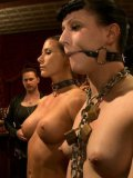 Aiden Starr and a bunch of slave girls get kinky set toys inserted into their wet and gaping holes.