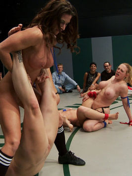 Bella Rossi is roughly treated cat fights while put to fight a lot of kinky babes.