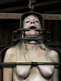 Slave blonde Rain DeGrey receives the punishment from dusk till down indoors ad outside