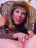 Shaved big titted blonde spreads her legs for mature Susan Block and gets licked