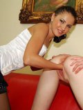 Enthusiastic brunette Gail stretches Teera's pink pussy to the maximum using her hand