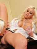 Britney Amber loves lesbian domination and plays with another lesbian blonde