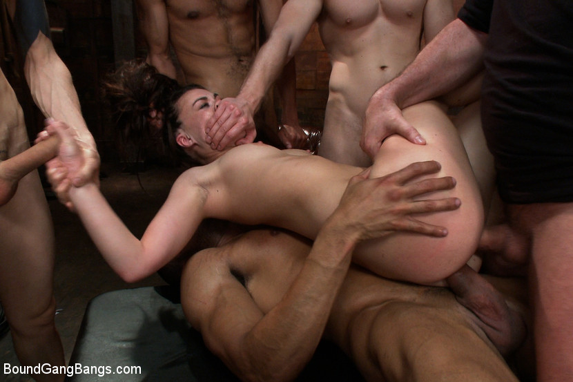 Extreme Rough Teen Gangbang