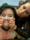 Ariel X makes the short haired  Amy Faye moan while every inch of her body feels hard BDSM.