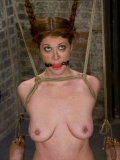 Slave Sabrina Fox gets her shaved pierced snatch tortured by Princess Donna