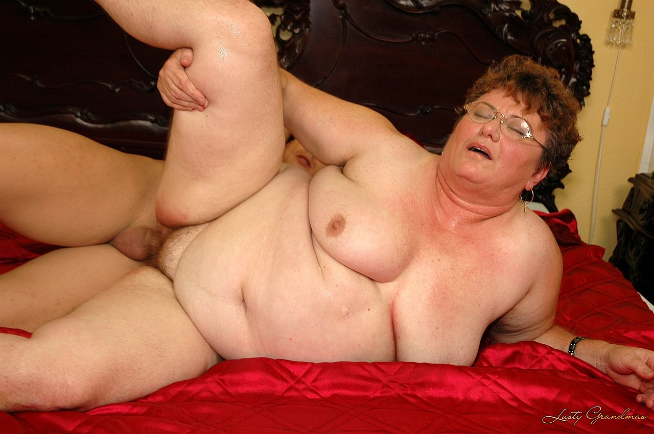 Fat granny with glasses commit