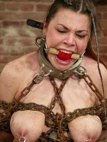Helpless brunette Mallory Knots gets hogtied and tortured anally and vaginally