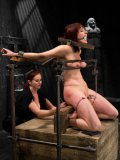 Silly redhead Odile is gagged and disciplined like a real slut by an experienced domina Mz Berlin.