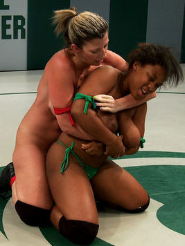 Yasmine Loven is wearing a strap-on and getting Sara Jay's holes filled up in cat fights.
