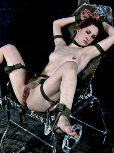 Master and mistress love playing with helpless holes of restrained Calico Slave