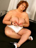 Two fat bisexual women Peaches Larue and Jammin Jennie play with dildo and cock