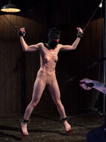 Horny brunette Elise Graves gets her skinny body used in various humiliating ways.