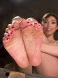 Lily Labeau having a hot Foot & Legs scene with a fetish loving dud who gets a hot footjob.