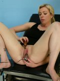 Tattooed blonde Adrianna Nicole gets abused in the hospital by Chanta Rose