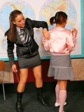 Gina Killmer gets humiliated by her unmerciful teacher Tatiana Milovani in front of her classmates
