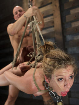 This is how bondage looks like when Chastity Lynn is involved. She is more than nasty.