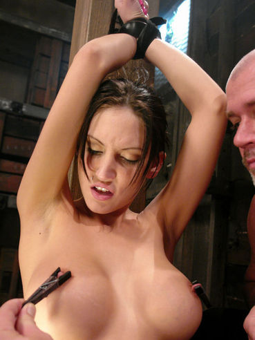 Super sexy slave Mindy Main gets spanked, tortured and mouth fucked by Mark Davis