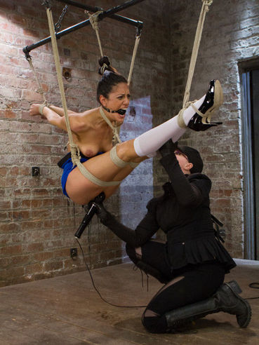 Bizarre screaming and various BDSM devices are making Lyla Storm scream even louder.
