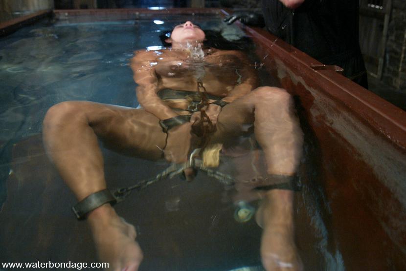 Gay underwater bondage