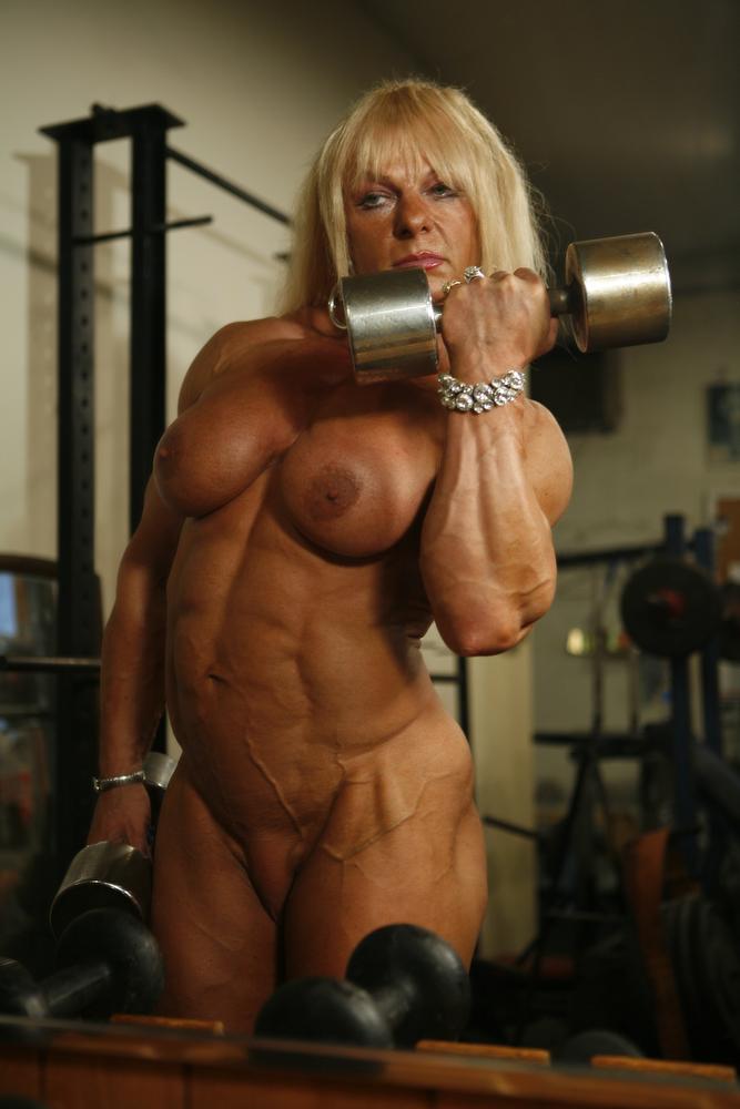 Nude muscle men in women