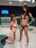 Tia Ling shows that she means business in a cat fight when she brings her strap-on.
