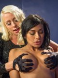 Lorelei Lee punishes fetish loving Beretta James and pegs her delicate tits before drilling her.