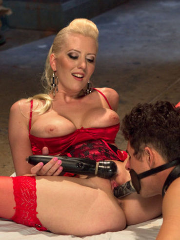 FemDom expert Cherry Torn getting her male slave to moan in passion while getting him fisted.