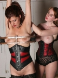 Dominating girl Natali Demore does everything to make her slave Sasha Monet obey the orders