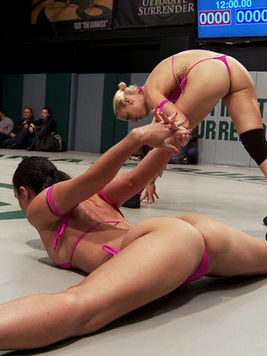 Izamar Gutierrez takes on multiple babes at once while getting stimulated in cat fights.