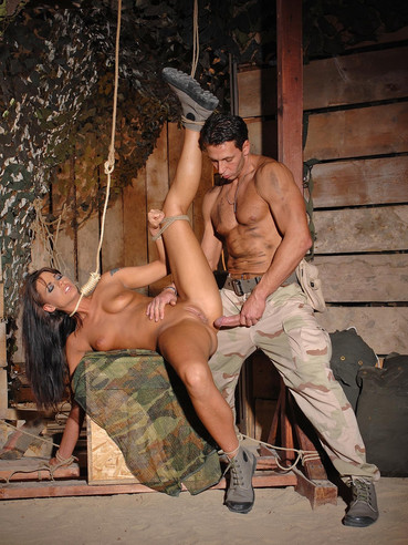 Simony Diamond with a noose around her neck gets her ass fucked in the barn