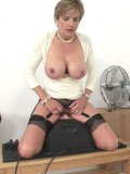 Lady Sonia has a new fetish, and she can't get enough of her new sybian toy.