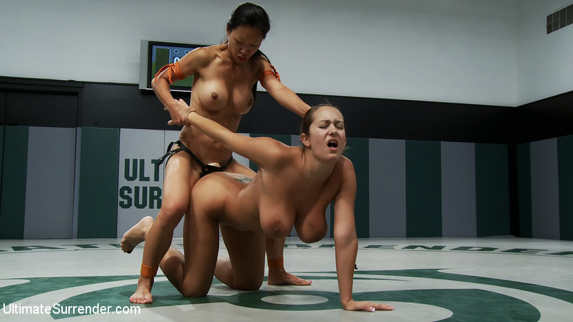 Sexy female wrestling scissorholds submission victory posses - 1 part 8