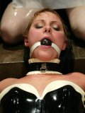 Claire Adams smothers and fucks her slave Vendetta in the dungeon equipped for water bondage