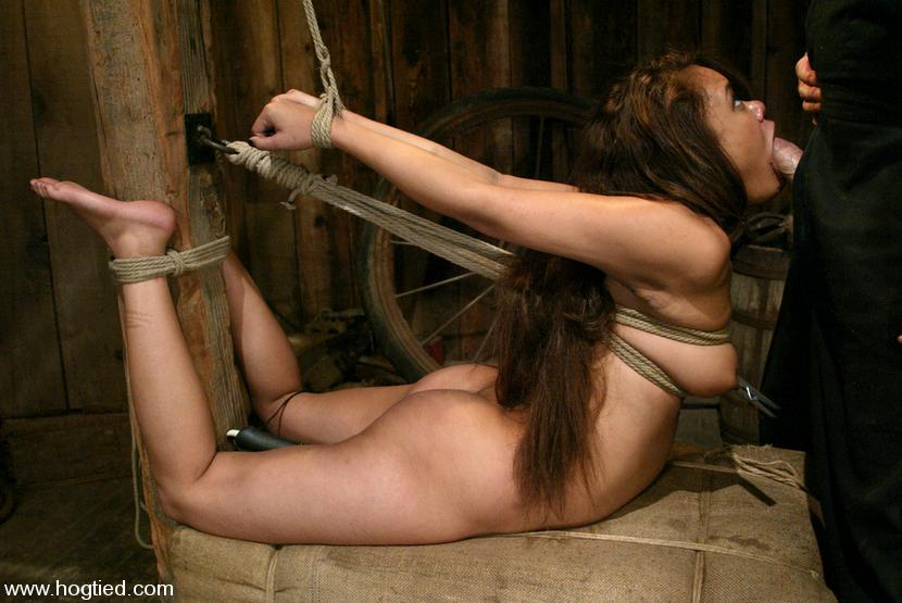 Naked bondage elbows toed pity