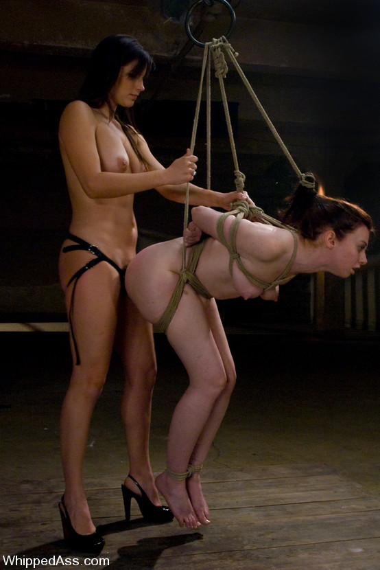 Female bondage strapon sex